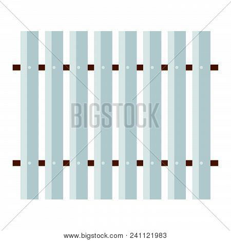 Icon Of Construction Fence . Flat Color Design. Vector Illustration.
