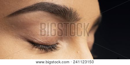 Closeup Of An Eyelashes.