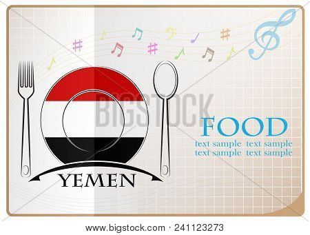 Food Logo Made From The Flag Of Yemen