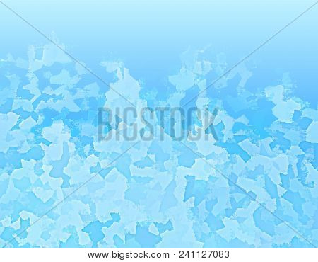 Blue Spotted Background As Ice. Vector Modern Background For Posters, Brochures, Sites, Web, Cards,
