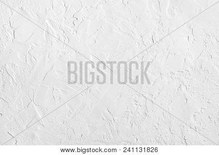 White Abstract Rough Textured Wall. Vintage Background Pattern