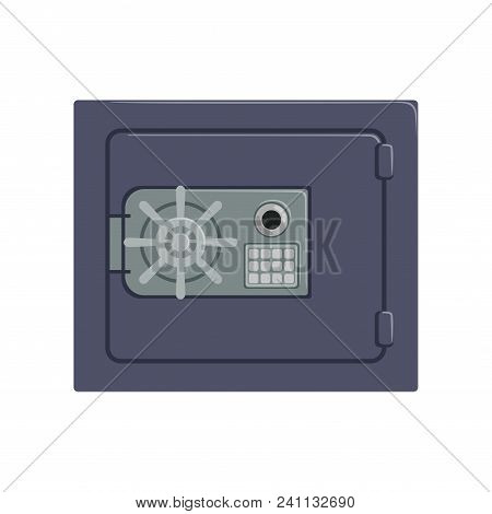 Safe Metal Box With A Mechanical Combination Lock, Safety Business Box Cash Secure Protection Concep