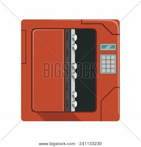 Safe Metal Opened Box, Safety Box, Cash Secure Protection Concept Vector Illustration Isolated On A