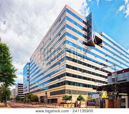 Washington D.c., Usa - May 2, 2015: International Monetary Fund Building In Washington, Usa. It Was