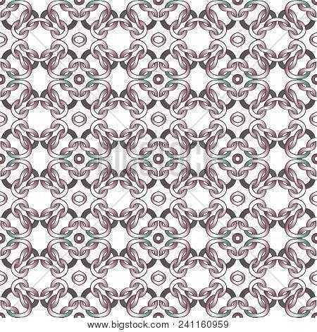 White Net On Black Background. Seamless Pattern Vector Illustration