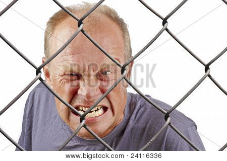 Man behind bars