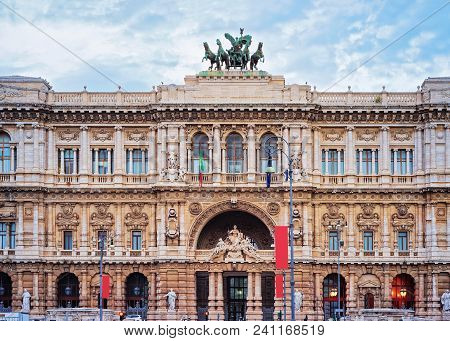 Supreme Court Of Cassation In Rome In Italy. Corte Suprema Di Cassazione In Italian. The Palace Of J