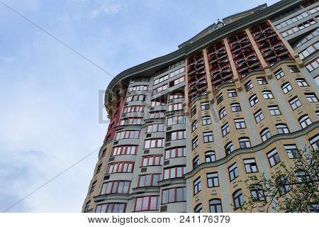 Moscow, Russia, May 4, 2018, An Architectural Eclectic Ensemble Of A Residential Complex On Michurin