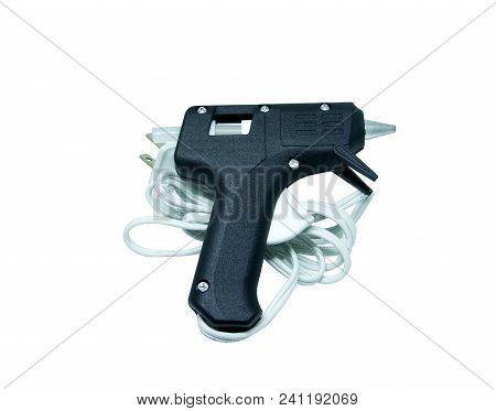 Hot Glue Gun On Isolated White Background.