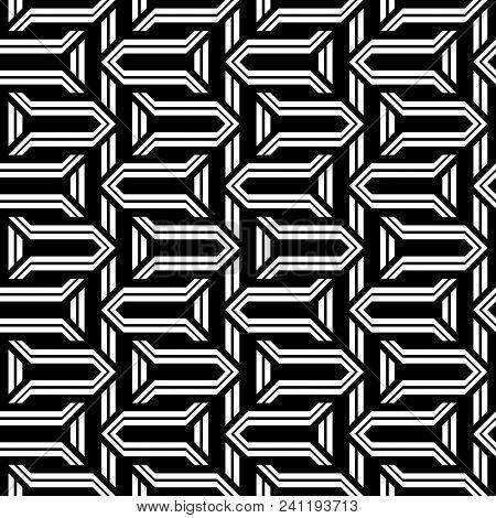 Design Seamless Monochrome Zigzag Pattern