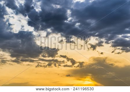 Sunset Hdr Clouds Evening Summer Texture Abstraction