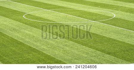 Soccer Training Field, Football Flag Corner. Football Field.