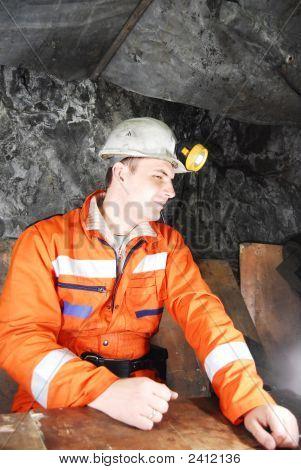 Miner haben eine Pause von der Arbeit
