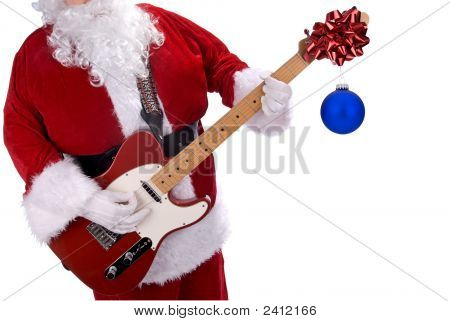 Santa Claus And Guitar