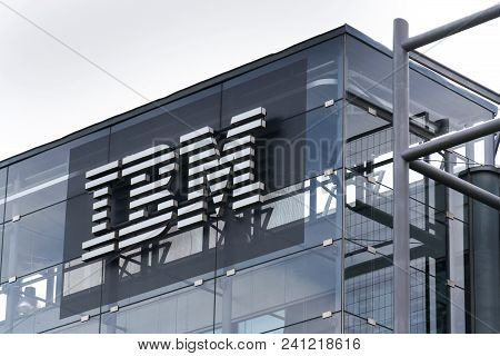Prague, Czech Republic - May 10 2018: Ibm Company Logo On Headquarters Building On May 10, 2018 In P