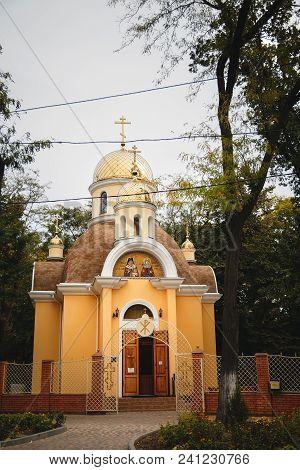 Odessa, Ukraine - October 17, 2015: Ukrainian Orthodox Christian Church Of Saint Luka And Great Mart