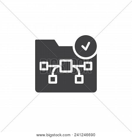 Graphic Folder With Check Mark Vector Icon. Filled Flat Sign For Mobile Concept And Web Design. Grap