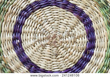 Wickerwork With Circles Of Colors For Funds, Textures Or Graphical Design