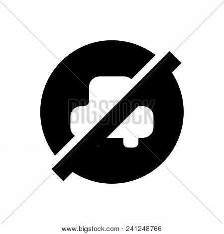 No Parking Vector Icon On White Background. No Parking Modern Icon For Graphic And Web Design. No Pa