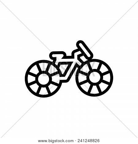 Bicycle Vector Icon On White Background. Bicycle Modern Icon For Graphic And Web Design. Bicycle Ico