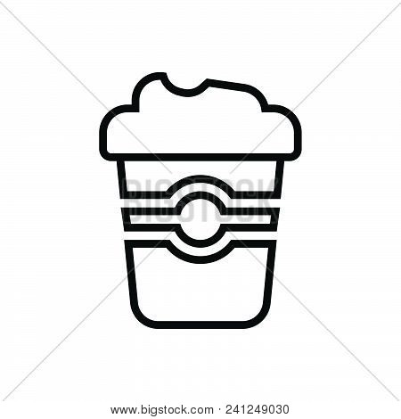 Coffee Cup Vector Icon On White Background. Coffee Cup Modern Icon For Graphic And Web Design. Coffe