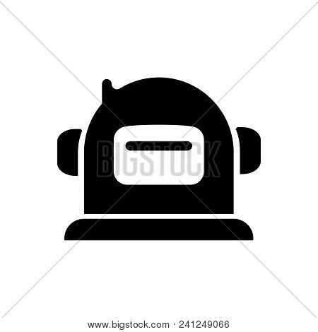 Space Helmet Vector Icon On White Background. Space Helmet Modern Icon For Graphic And Web Design. S
