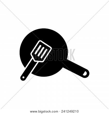 Coking Pan Vector Icon On White Background. Coking Pan Modern Icon For Graphic And Web Design. Cokin