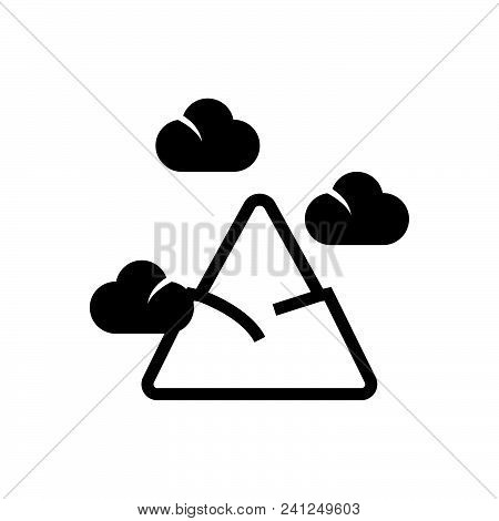 Mountain Peak Vector Icon On White Background. Mountain Peak Modern Icon For Graphic And Web Design.