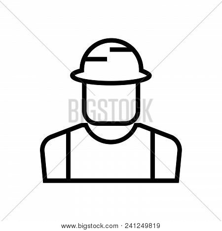 Construction Worker,builder Outlined Symbol,  Construction Worker Icon,  Construction Worker Vector