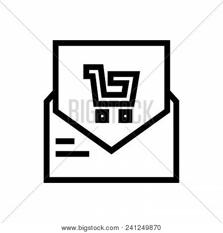 Shopping Bill Vector Icon On White Background. Shopping Bill Modern Icon For Graphic And Web Design.