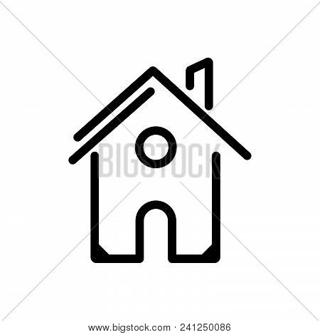 House Building Outlined Symbol Of Private Home, House Vector Icon, House Image Jpg, House Vector Eps