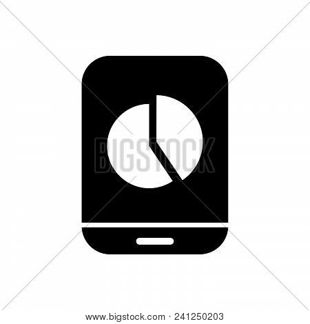 Mobile Chart Vector Icon On White Background. Mobile Chart Modern Icon For Graphic And Web Design. M