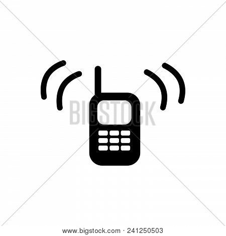 Ringing Phone Vector Icon On White Background. Ringing Phone Modern Icon For Graphic And Web Design.