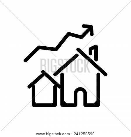 House Prices Uplift Outlined Symbol Of Property Cost Increase