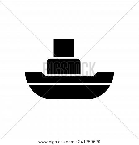 Floating Boat Vector Icon On White Background. Floating Boat Modern Icon For Graphic And Web Design.