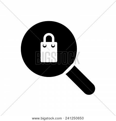 Shopping Search Vector Icon On White Background. Shopping Search Modern Icon For Graphic And Web Des