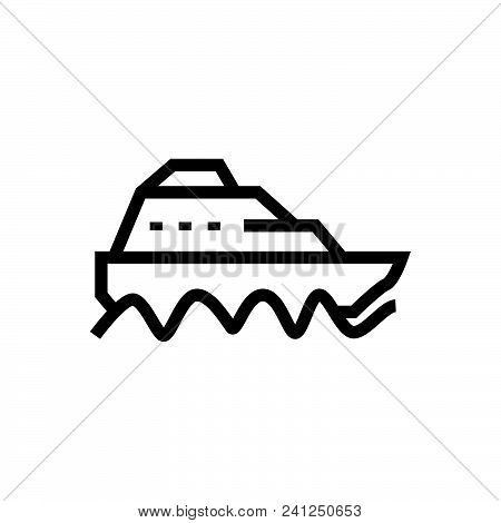 Sail Boat Outlined Symbol Of Yacht, Sail Boat Vector Icon, Sail Boat Image Jpg