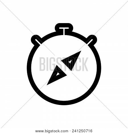 Compass Vector Icon On White Background. Compass Modern Icon For Graphic And Web Design. Compass Ico