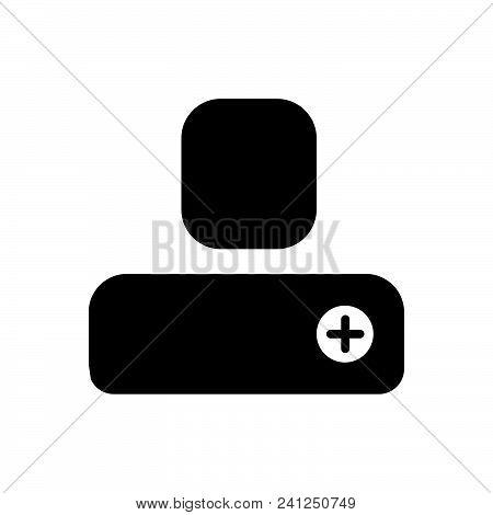 Add Person Vector Icon On White Background. Add Person Modern Icon For Graphic And Web Design. Add P
