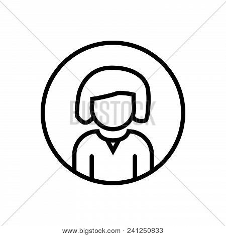 Woman Profile, Outlined Female Account Symbol,  Woman Profile Vector Icon,  Woman Profile Image Jpg