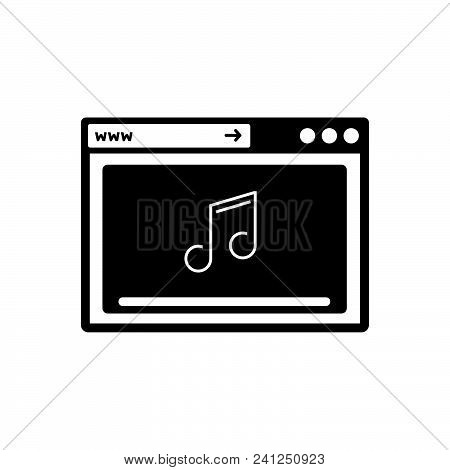 Online Music Vector Icon On White Background. Online Music Modern Icon For Graphic And Web Design. O