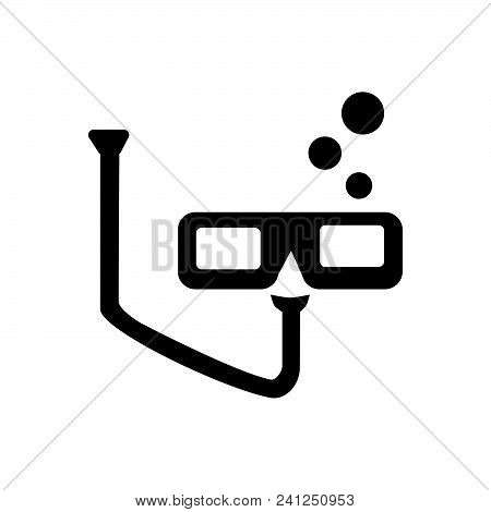 Diving Mask Vector Icon On White Background. Diving Mask Modern Icon For Graphic And Web Design. Div