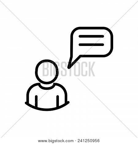 Chatting Outlined Symbol Of Messaging, Chatting Vector Icon, Chatting Image Jpg