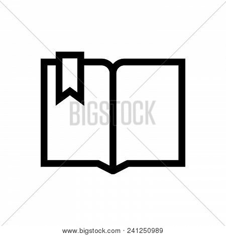 Open Book Vector Icon On White Background. Open Book Modern Icon For Graphic And Web Design. Open Bo