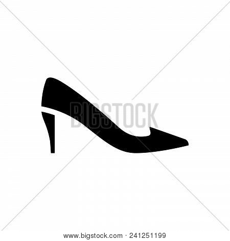 Heel Vector Icon On White Background. Heel Modern Icon For Graphic And Web Design. Heel Icon Sign Fo