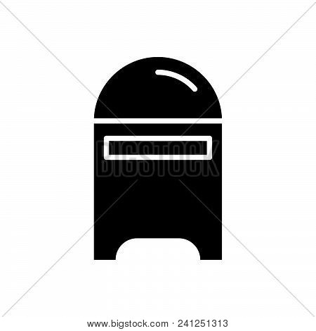 Mail Box Vector Icon On White Background. Mail Box Modern Icon For Graphic And Web Design. Mail Box