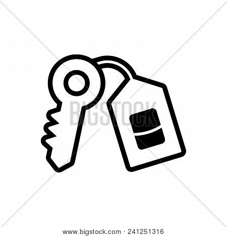 Key Vector Icon On White Background. Key Modern Icon For Graphic And Web Design. Key Icon Sign For L