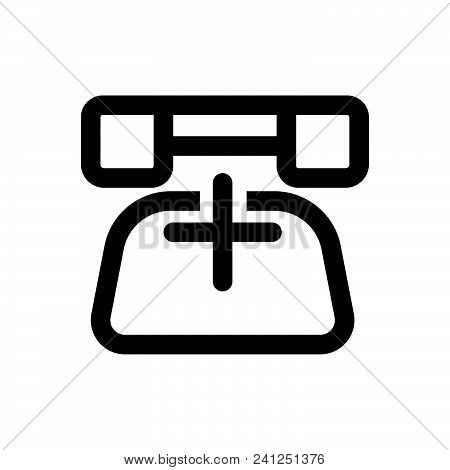 Home Telephone Vector Icon On White Background. Home Telephone Modern Icon For Graphic And Web Desig