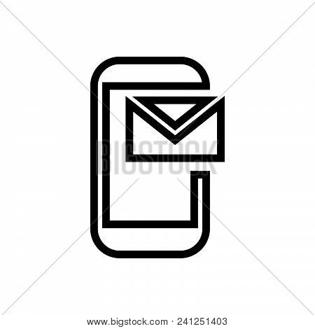 Phone Mail Vector Icon On White Background. Phone Mail Modern Icon For Graphic And Web Design. Phone