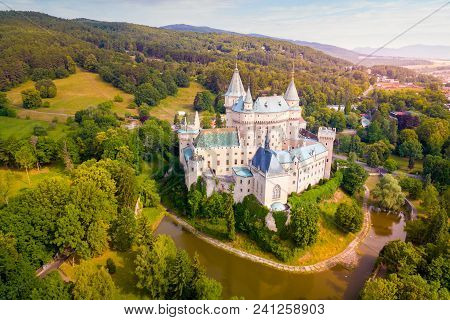 Aerial View Of Bojnice Castle In Slovakia